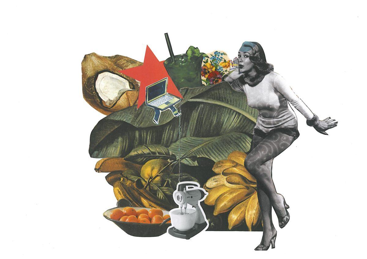 comida e colagem artesanal